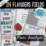 In Flanders Fields {A World War I Poetry Analysis}(works with Distance Learning)