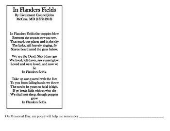 In Flanders Field poem