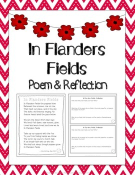 In Flanders Fields Worksheets Teaching Resources Tpt