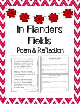 In Flanders Fields Worksheets Teaching Resources Tpt
