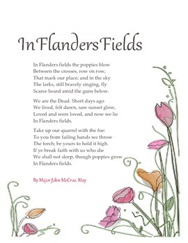 In Flanders Fields Printable