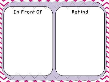 In Front Of or Behind Mat (Kindergarten Positional Words Activity, K.G.1)