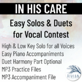 In His Care - Easy Solos & Duets for Vocal Contest (High &