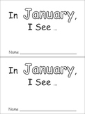 In January Emergent Reader Preschool Kindergarten Months of the Year