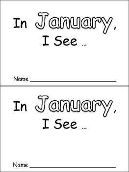 In January Emergent Reader Preschool Kindergarten Months of the Year