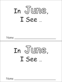 In June Emergent Reader Preschool Kindergarten Months of the Year