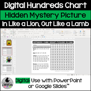 In Like Lion and Out like a Lamb Hundreds Chart Hidden Picture Activities