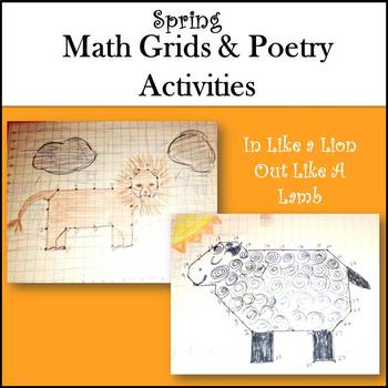 Spring Activities:Math Grid Art and Poetry