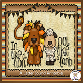 Phonics- Letter Sounds - In Like a Lion, Out Like a Lamb