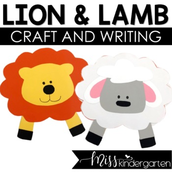 Lion And Lamb Weather Craft And Writing Templates By Miss