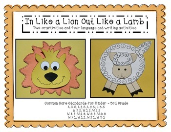 In Like a Lion Out Like a Lamb:  Craftivity and Four Language Arts Activities
