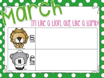 In Like a Lion, Out Like a Lamb March Tally Chart FREEBIE