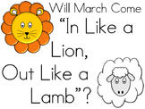 In Like a Lion Out Like a Lamb - March Weather Tracker