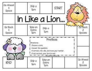 In Like a Lion - Prefix Game
