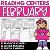 Literacy Centers 3rd, 4th, 5th Grade | Valentine's Day Rea
