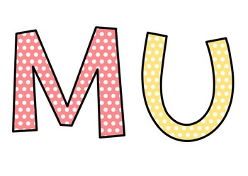 In MUSIC Class We...Bulletin Board Set | Black and White Polka Dot & Brights