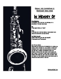 In Memory Of- Music For Jazz Combo