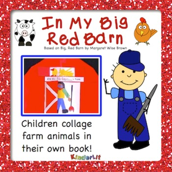 In My Big Red Barn Farm Animal Collage Book