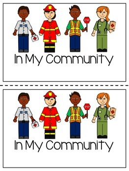 In My Community Emergent Reader - Colour and Black and White versions included