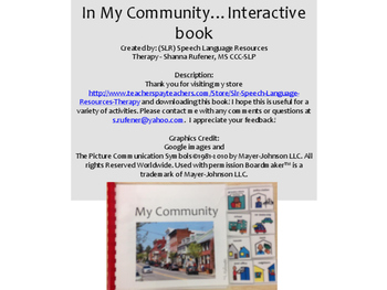 In My Community…Interactive book