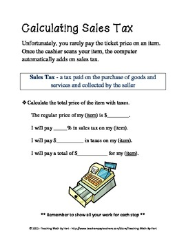 How To Figure Out Sales Tax >> In My Dreams Activity 1 Calculating Sales Tax And Discounts