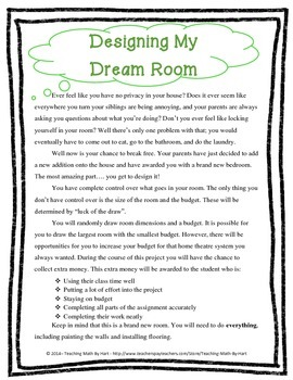 In My Dreams - Activity #4 - Designing a Room on a Budget