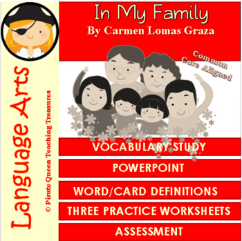 In My Family Vocabulary Activities/Common Core Aligned