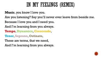 In My Feelings (Music Class Remix)
