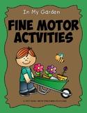 In My Garden Fine Motor Activities