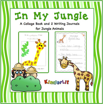 In My Jungle Collage Book and  Writing Journals for Jungle Animals