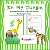 In My Jungle Collage Book and  Writing Journals for Jungle