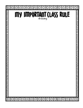In My Opinion An Important Class Rule