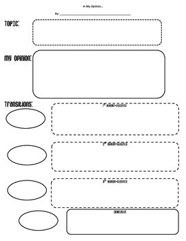 In My Opinion.... Graphic Organizer