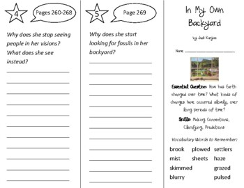 In My Own Backyard Trifold - Open Court 2nd Grade Unit 2 Lesson 5