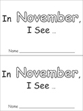 In November Emergent Reader Preschool Kindergarten Months of the Year