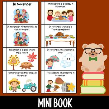In November - Mini Book / Emergent Reader