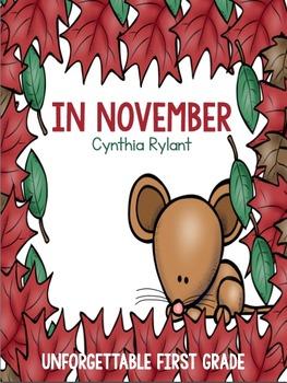 In November {Realistic Fiction Mini Unit}