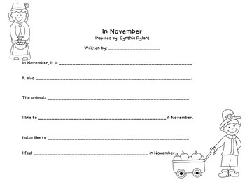 In November Writing Activity