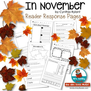 In November -  by Cynthia Rylant -Writing Prompts for Beginning Writers