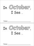 In October Emergent Reader Preschool Kindergarten Months of the Year