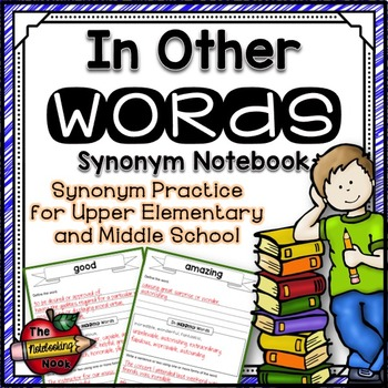 In Other Words Synonyms Notebook
