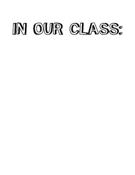 In Our Class Sign