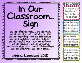 In Our Class...Sign