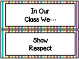 In Our Class We...Printables Rainbow Decor
