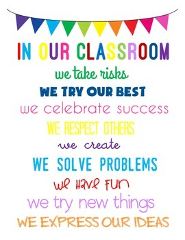 In Our Classroom Poster Freebie
