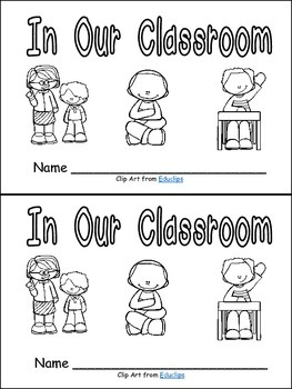 In Our Classroom Emergent Reader Kindergarten or 1st Grade- Rules Back to School