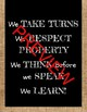 In Our Classroom Expectation Poster Burlap/B&W