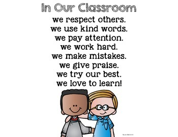 In Our Classroom... Poster!  FREEBIE!