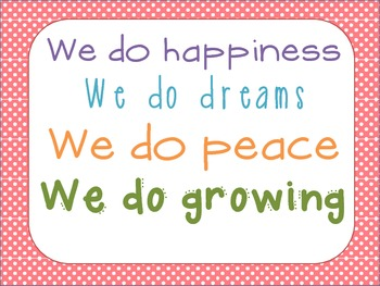 """""""In Our Classroom We Do"""" ...Poster"""