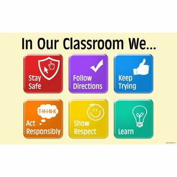 {In Our Classroom We...} Rules banner (especially for Comp
